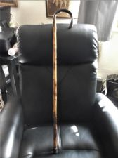 GENUINE VINTAGE SMOOTHED KNOBBLY BRIAR WALKING CANE GOOD TONES + CONDITION 36""